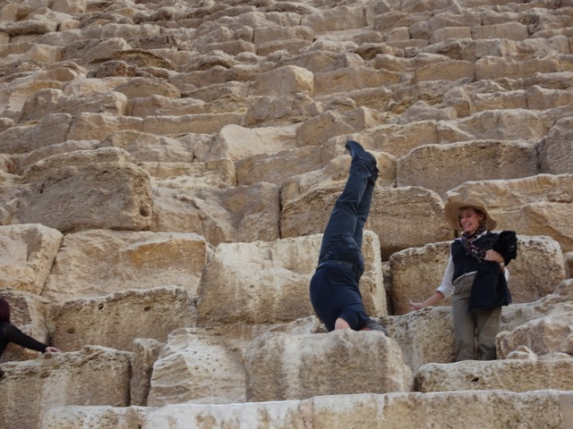 Handstands on the Great Pyramids of Giza